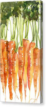 Blendastudio Canvas Print - Carrot Bunch Art Blenda Studio by Blenda Studio