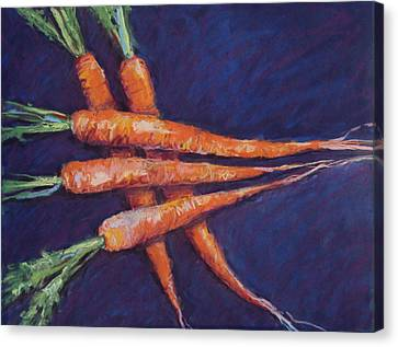 Carrot Stack Canvas Print by Kelley Smith