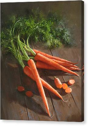 Cook Canvas Print - Carrots by Robert Papp