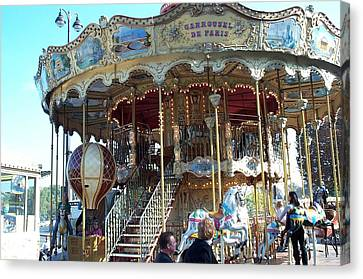 Canvas Print featuring the photograph Carrousel De Paris by Barbara McDevitt
