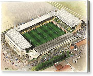 Carrow Road - Norwich City Canvas Print by Kevin Fletcher