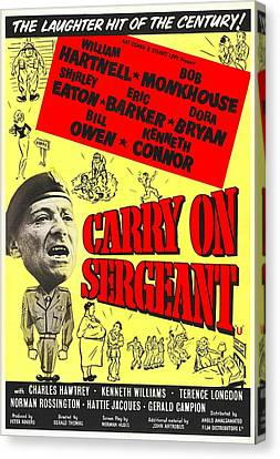 Carry On Sergeant, British Poster Canvas Print by Everett