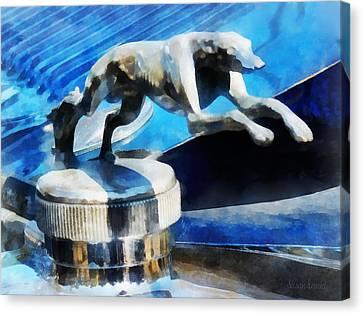 Cars - Lincoln Greyhound Hood Ornament Canvas Print by Susan Savad