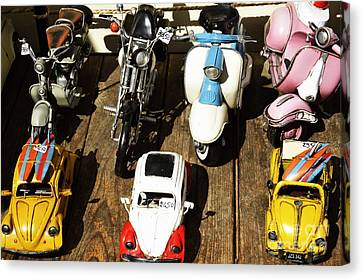 Cars Model For Sale Displayed At Store Canvas Print by Sami Sarkis
