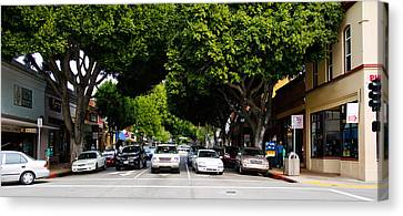 Cars On The Road In Downtown San Luis Canvas Print