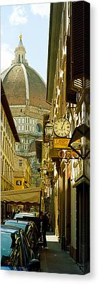 Dei Canvas Print - Cars Parked In A Street by Panoramic Images