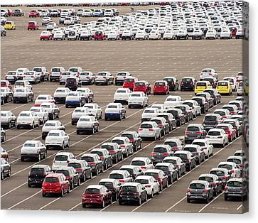 Cars Ready For Export Canvas Print by Ashley Cooper