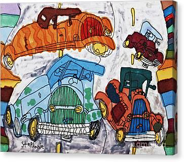 Cars Canvas Print by Stephanie Ward