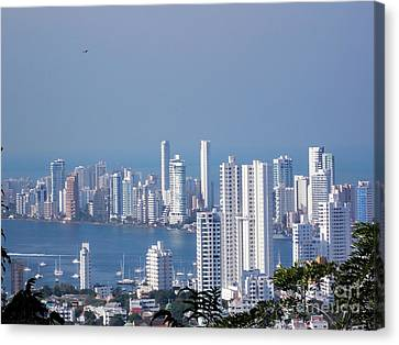 Cartagenha Columbia In A Distance Canvas Print