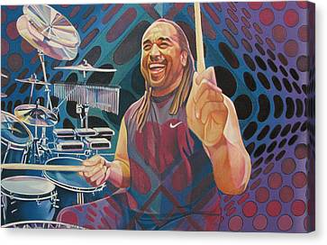 Carter Beauford Pop-op Series Canvas Print by Joshua Morton