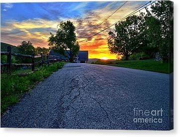 Carter Farm At Sunset Hdr Canvas Print