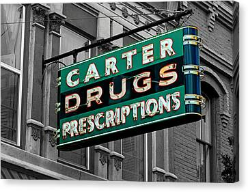 Carter Prescription Drugs Canvas Print