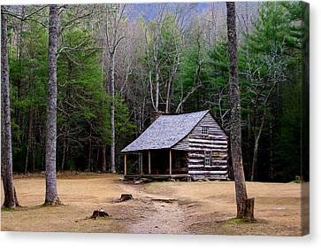 Carter Shields' Cabin Canvas Print by Jim Finch