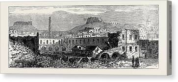 Carthagena After The Siege Scene Of Explosion Of Artillery Canvas Print