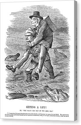 Sudan Red Canvas Print - Cartoon Imperialism, 1884 by Granger