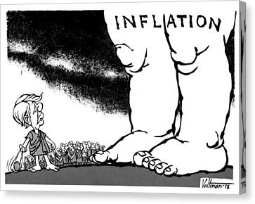 Cartoon Inflation, 1978 Canvas Print