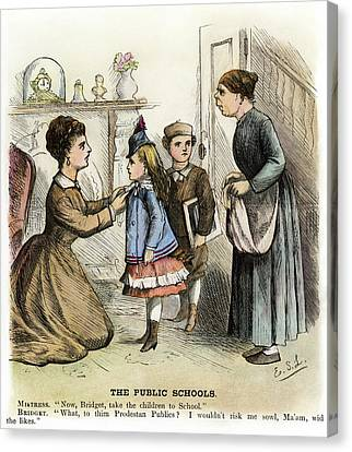 Cartoon Irish Immigrants, 1873 Canvas Print by Granger