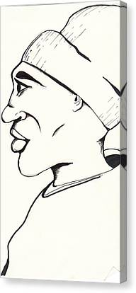Cartoon Sketch Canvas Print by Marc Chambers