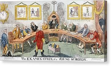 Cartoon: Surgeons, 1811 Canvas Print