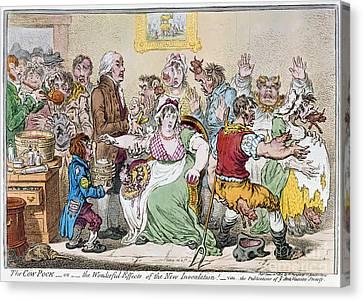 Cartoon: Vaccination, 1802 Canvas Print by Granger