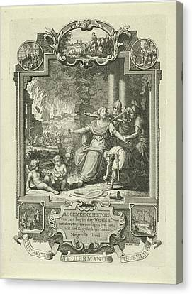 Cartouche With Allegory Of Jewish History Canvas Print by Quint Lox