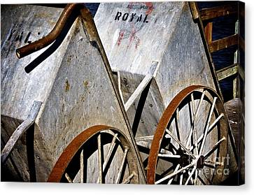 Canvas Print featuring the photograph Carts Before The Catch by Sherry Davis