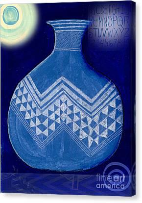 Jackson Canvas Print - Carved Vase Under The Moon by Elaine Jackson
