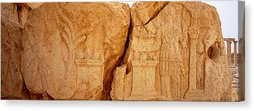 Carving On Rocks, Palmyra, Syria Canvas Print by Panoramic Images