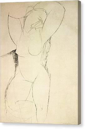 Stretching Canvas Print - Caryatid by Amedeo Modigliani