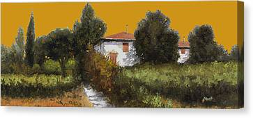 Casa Al Tramonto Canvas Print by Guido Borelli