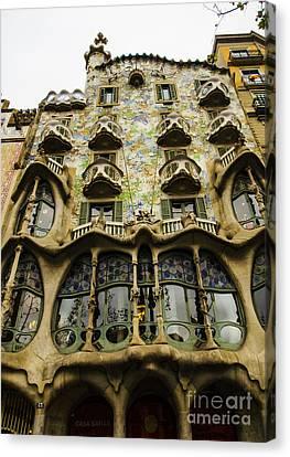 Casa Batllo Exterior Canvas Print by Deborah Smolinske