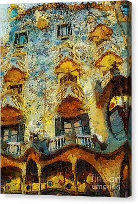 Casa Battlo Canvas Print by Mo T