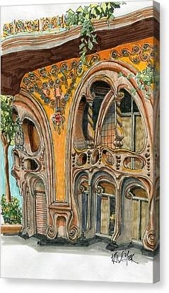Casa Comolat Barcelona Spain Canvas Print by Paul Guyer