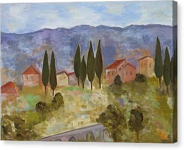 Casas De Segovia Canvas Print by Trish Toro