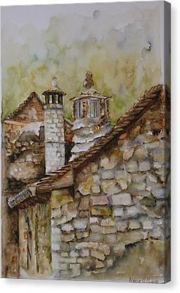 Casa En Alto Aragon Canvas Print