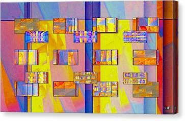 Casa-magica Canvas Print by Halina Nechyporuk