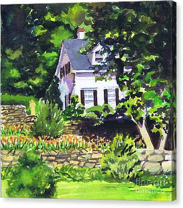 Canvas Print featuring the painting Casa Peligro by Susan Herbst