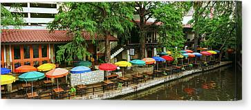 Casa Rio Restaurant At San Antonio Canvas Print by Panoramic Images