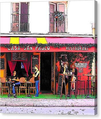 Casa San Pablo Restaurant Canvas Print by Jan Matson