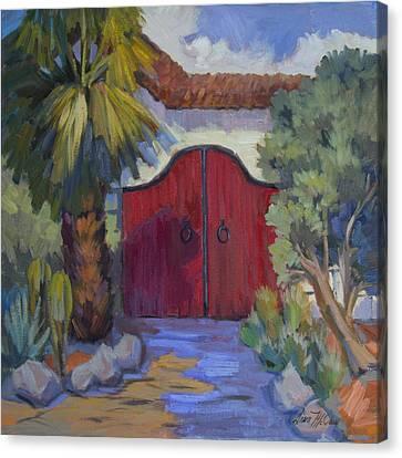 Casa Tecate Gate 2 Canvas Print by Diane McClary