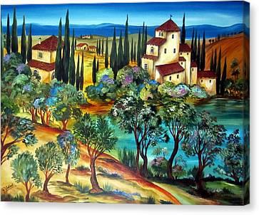 Casali Toscani-tuscany Farmhouses Canvas Print