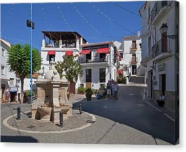 Casares Village Streets Malaga Canvas Print by Panoramic Images