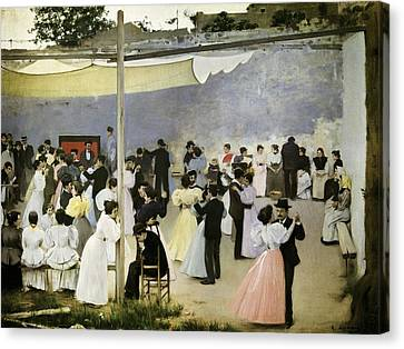 Casas I Carbo, Ram�n 1866-1932. Evening Canvas Print by Everett