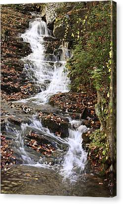 Canvas Print featuring the photograph Cascade At High Falls Creek Near Mount Cheaha Alabama by Mountains to the Sea Photo