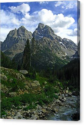 Cascade Creek The Grand Mount Owen Canvas Print