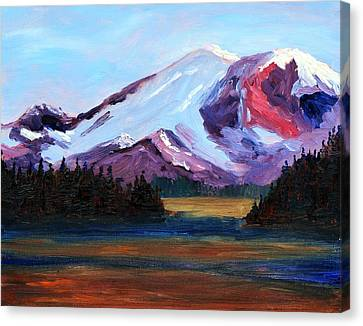 Cascade Light Canvas Print by Nancy Merkle