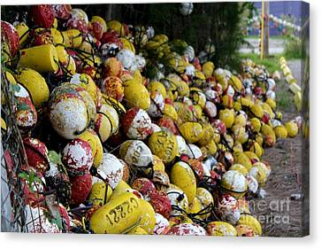 Cascade Of Buoys Canvas Print by Theresa Willingham
