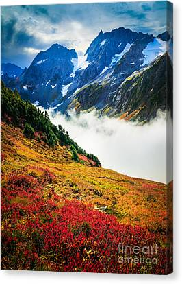 North Cascades Canvas Print - Cascade Pass Peaks by Inge Johnsson