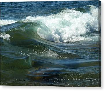 Canvas Print featuring the photograph Cascade Wave by James Peterson