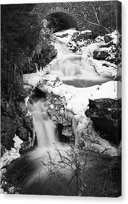 Cascades Of Velvet Canvas Print by Luke Moore